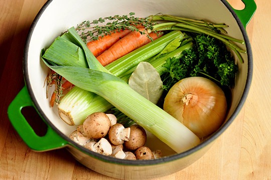 Simple vegetable broth recipe
